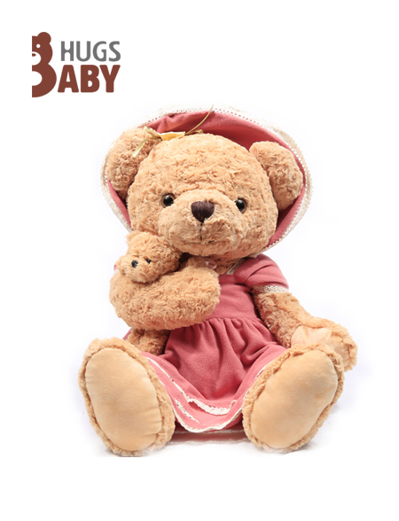 抱抱宝贝:母子泰迪熊